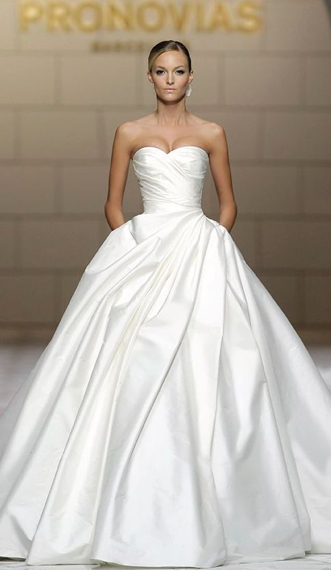 Wedding dress idea; Featured Dress: Pronovias