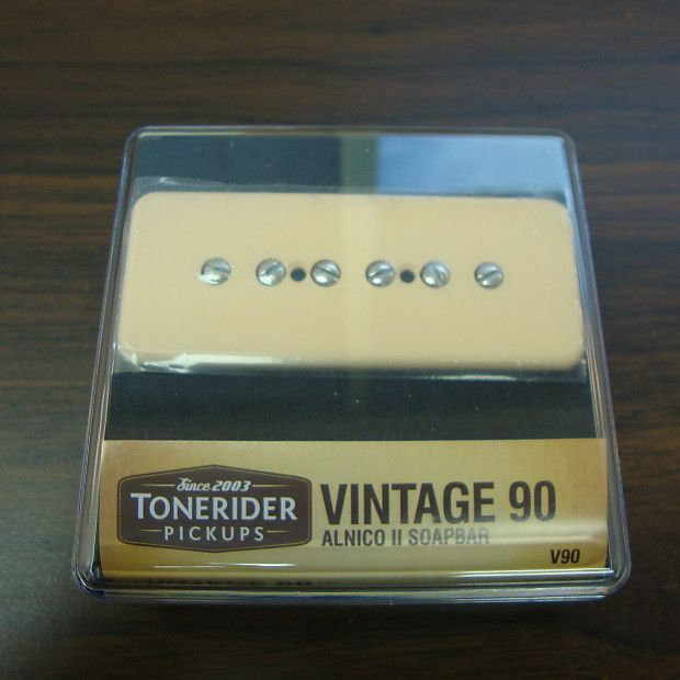 Unopened/never-installed Tonerider Vintage P90 Neck Pickup in cream. I bought this new to install in a guitar that was sold in 2015. Never taken out of the package. Has sat undisturbed in storage since then. It's time to give up the dream and let this go!Please let me know if you have any questions, and please check out my other listings if you get a chance.Will ship via USPS Priority on the same or next business day.Thanks for looking!