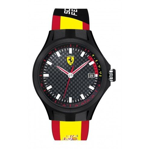 black watches s watch ferrari rev red scuderia silicone men