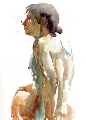 watercolor human figure Helen Strom