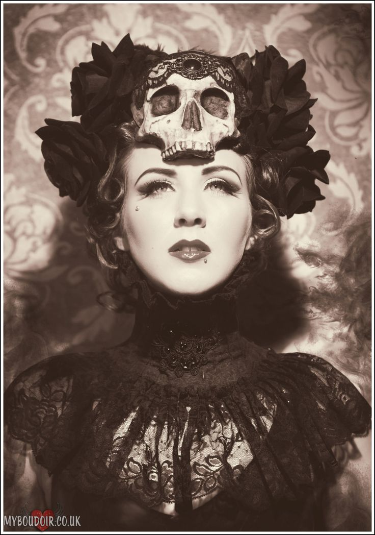 Day of the Dead Skull and Rose headdress made by HysteriaMachine, £95.00