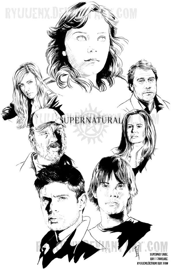 Supernatural Tv Show Coloring Pages Coloring Pages