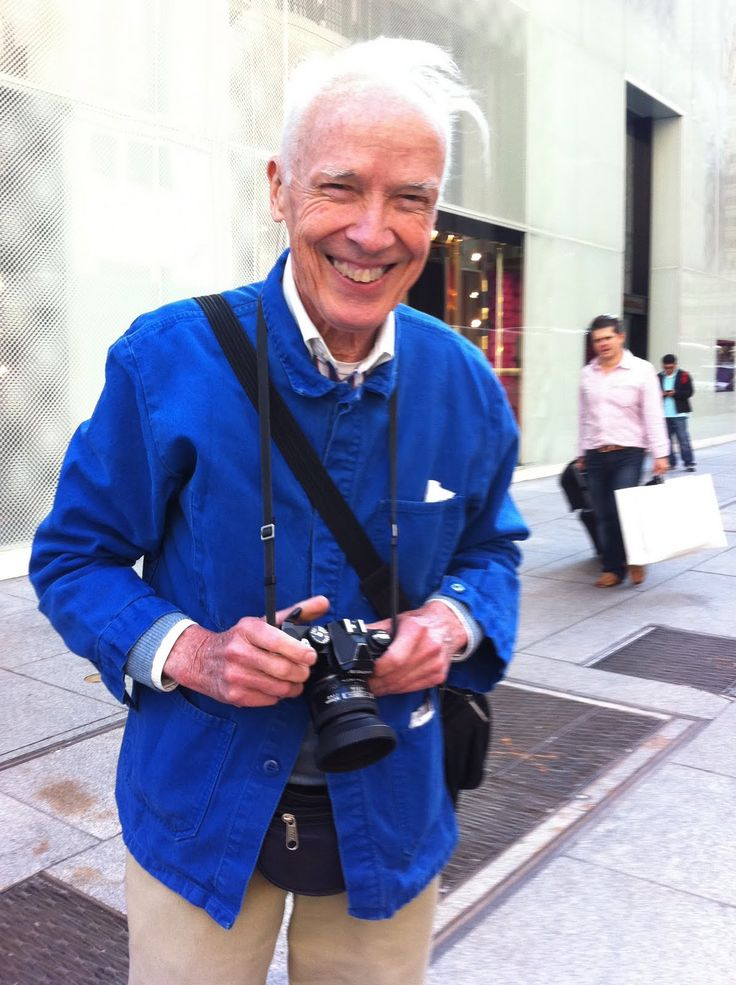 Turning the camera on Bill Cunningham, 57th and 5th Avenue,