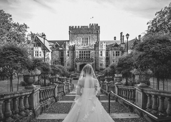 glamorous castle wedding at the Hatley Castle in Victoria, BC, photo by Ophelia Photography | junebugweddings.com
