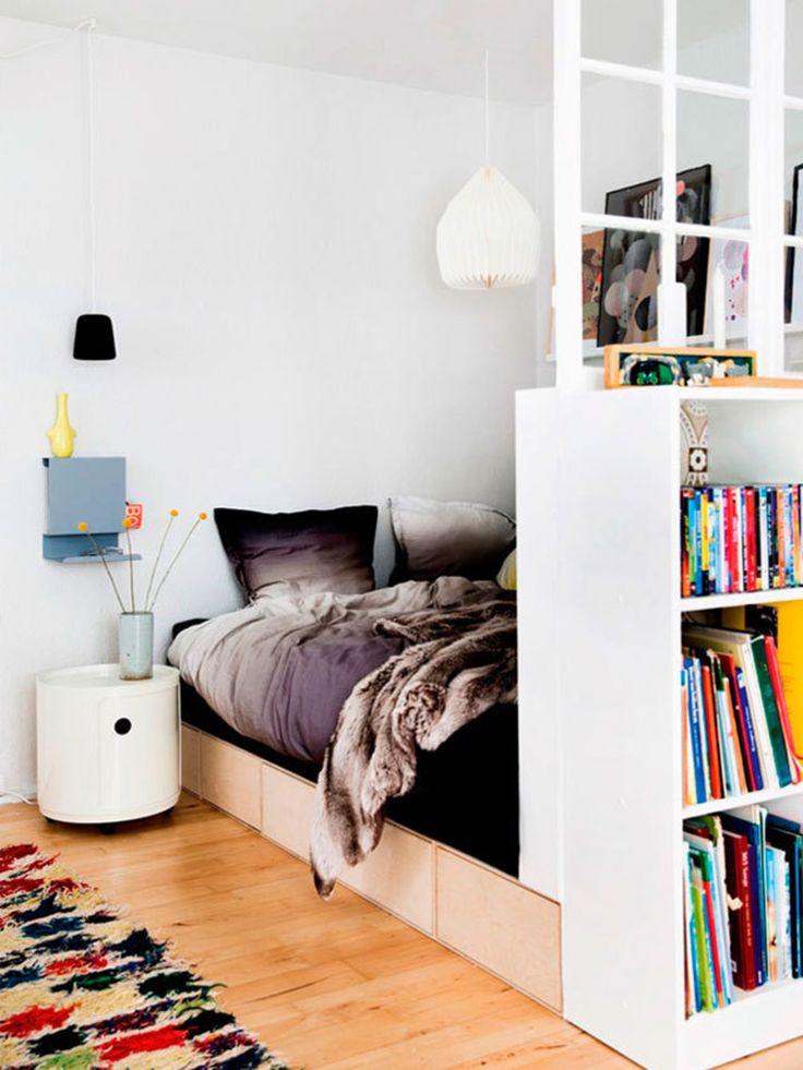 4-in-1 kamer: Scandinavisch multitasken // mooie oplossing voor meerdere functies in slaapkamer