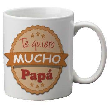 Mug taza blanca con frase dia del padre de cer mica for Tazas para desayuno