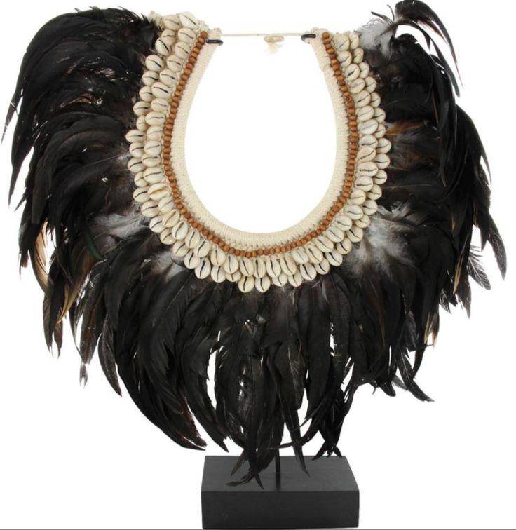 Papua necklace zwart - Haal de puurheid van Afrika in huis! - Goossens wonen & slapen