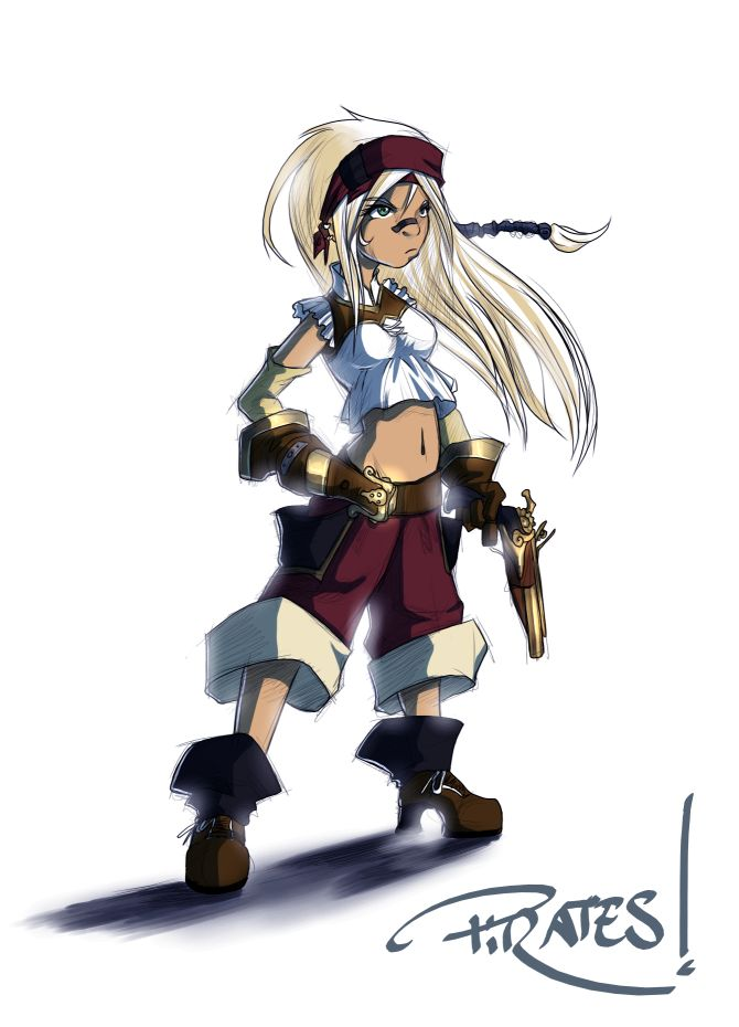 Anime Pirate Girl | Pirate Girl by Fred-H on deviantART