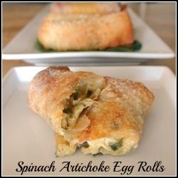Spinach Artichoke Egg Rolls recipe