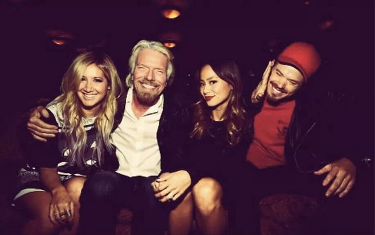 Kellan with Richard Branson & Ashley Tisdale & Jamie Chung in Dallas