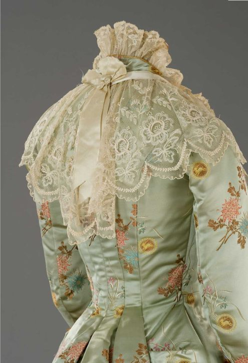 "Astounding dress used in The Age of Innocence which is set in the 1870s. This could also be considered a ""princess line"" dress."