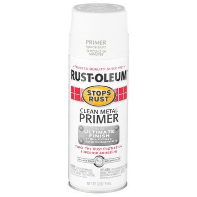 Rust-Oleum Stops Rust 12 oz. Clean Metal Primer Spray Paint 7780830 at The Home Depot - Mobile