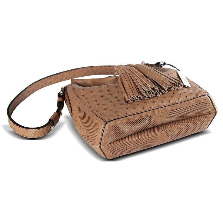 genuine ostrich leather handbag from Via Veneta Provoque - part of the Via La Moda group