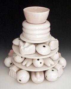 Rebecca Harvey does amazing porcelain