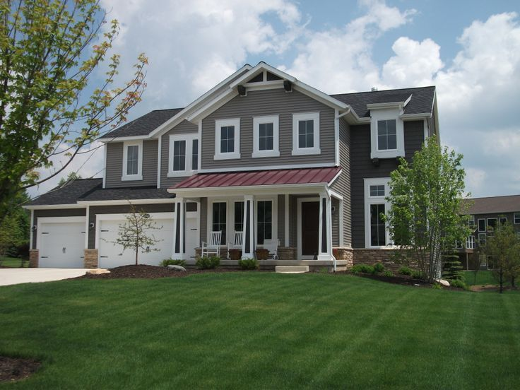Metal Accent Roof Craftsman Home Pinterest