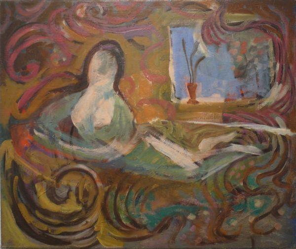 Rozsda Endre: A bajadér / The Bayadare - 1939 - 54x65 cm - olaj, vászon I oil on canvas