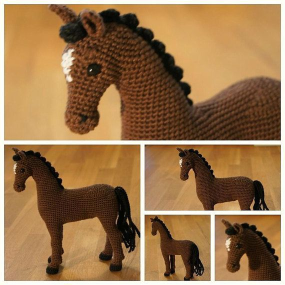 Crochet horse, crochet animal, amigurumi horse - Hayley the Horse, Amigurumi Pattern, Animal Crochet Pattern, Stuffed horse, Softie