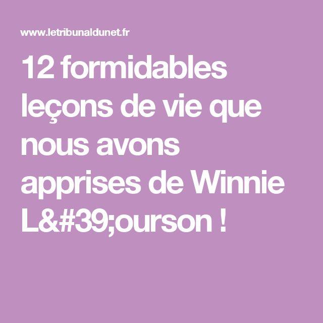 12 formidables leçons de vie que nous avons apprises de Winnie L'ourson !
