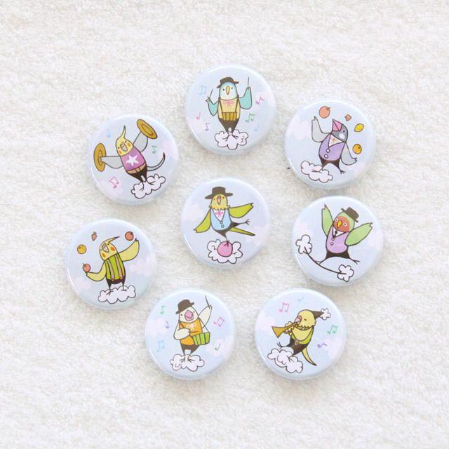 Cute SkyCircus BirdStory badges 〳 ° ▾ ° 〵