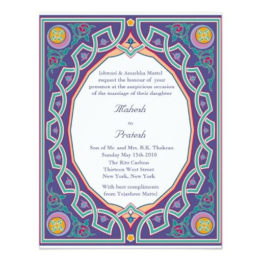 289 best Wedding invites images on Pinterest Indian wedding