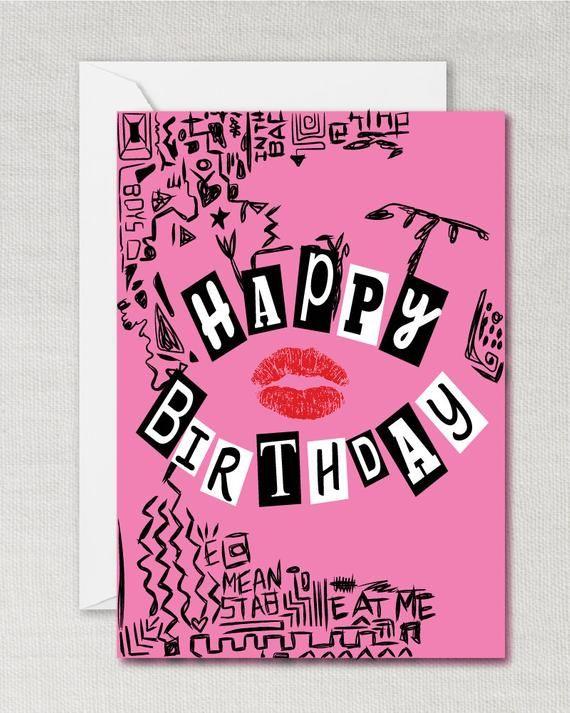 Burn Book Birthday Card Burn Book Mean Girls Card Mean Girls Birthday Burn Book Card Mean Girls Burn Book Thank You Next Mean Girls Burn Book Birthday Cards Printable Cards