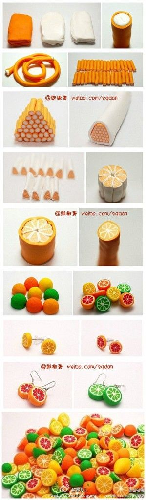 How to make clay lemon step by step DIY tutorial instructions