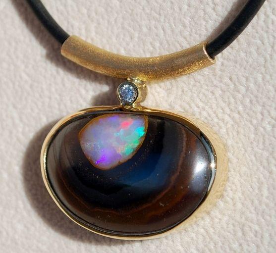 Rowarn Luder Yowah Opal Necklace
