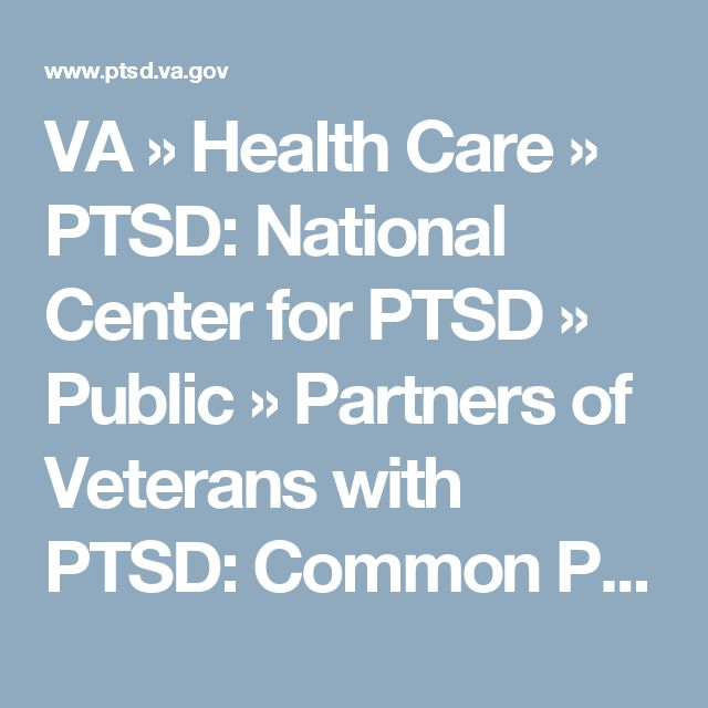 Dating a veteran with ptsd