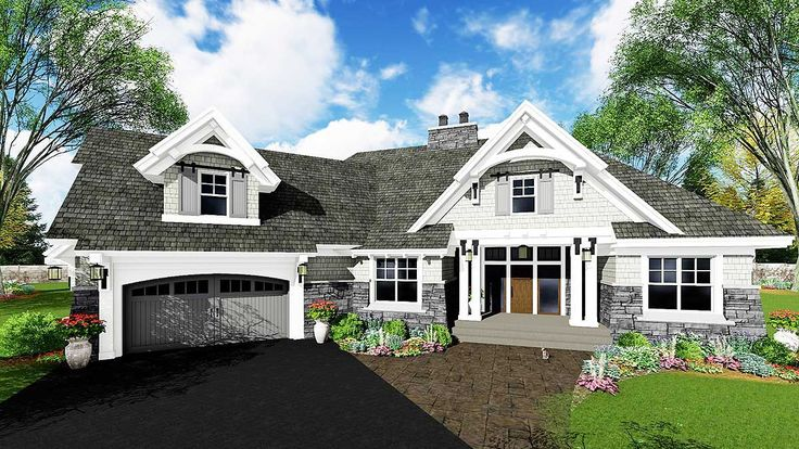 <ul><li>Wide open views greet you as soon as you step through the front door of this exciting Craftsman house plan.</li><li>The home is filled with custom touches like the built-ins and art niches, window seats and best of all, sliding barn doors to the large walk-in pantry off the kitchen.</li><li>Two unusual islands in the kitchen are bi-level, one with seating for 4.</li><li>Split bedrooms give the master suite a quiet location...