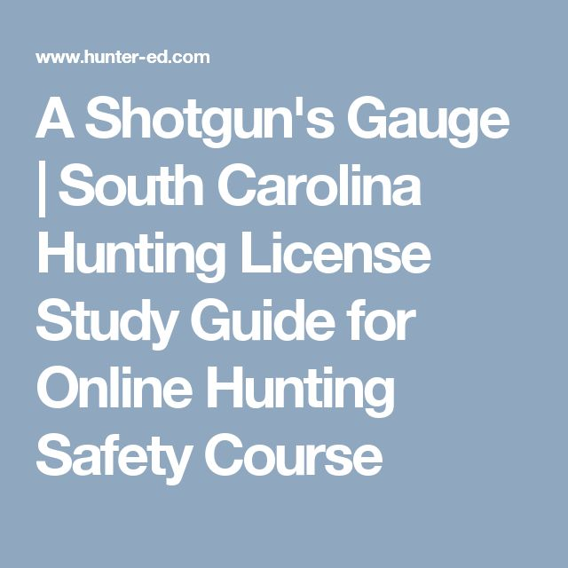 A Shotgun's Gauge | South Carolina Hunting License Study Guide for Online Hunting Safety Course