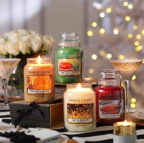 Julens doftnyheter 2016 från Yankee Candle är All is Bright, Festive Cocktail, Macaron Treats och Star Anise & Orange.  #YankeeCandle #Jul2016 #AllisBright # FestiveCocktail #MacaronTreats #StarAnise&Orange