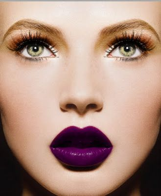 deep purple lips