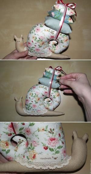 Master class de coser, caracoles Tilda.