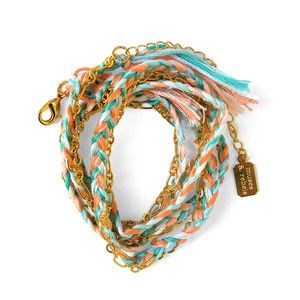 Armband Faded Braided Wrap Gold