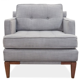 Grey armchair - love the lines and how comfy it looks