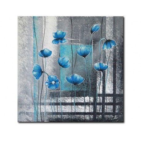 Campo di fiori blu festmény