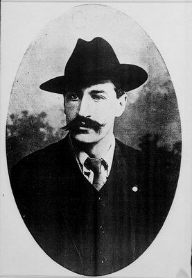 On 27 May 1911 Jim Larkin, pictured here, first published The Irish Worker, the paper of the Irish Transport and General Workers Union (NLI)