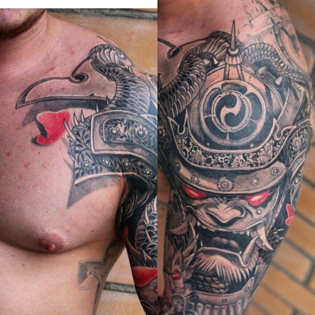 маска самурай иредзуми япония тату