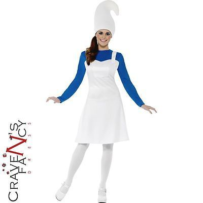 Adult blue garden #gnome #costume #ladies smurf fancy dress outfit new,  View more on the LINK: http://www.zeppy.io/product/gb/2/191594920838/