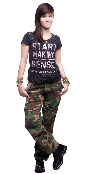 Women's BDU pants, ripstop, Woodland