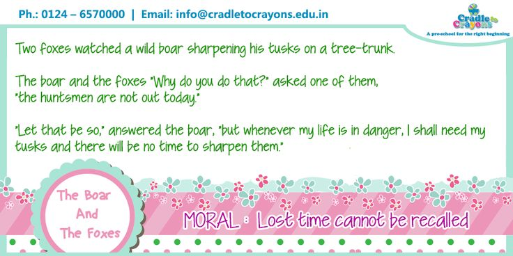 """""""Two foxes watched a wild boar sharpening his tusks on a tree-trunk.."""" read what happend next. #kids #gurgaon  #Gurgaon #kids #children #child #parents #toddler #kindergarten http://cradletocrayons.edu.in/"""