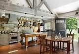 I love this farmhouse style kitchen....