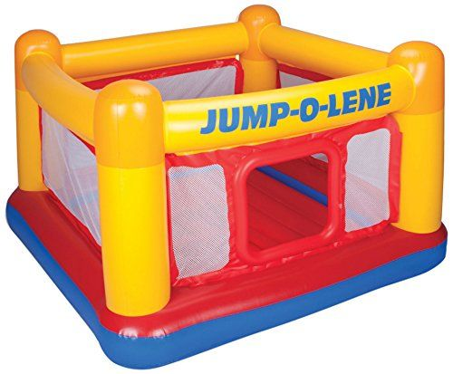 "Intex Playhouse Jump-O-Lene Inflatable Bouncer, 68"" X 68"" X 44"" $37 (Reg $64) - http://couponingforfreebies.com/intex-playhouse-jump-o-lene-inflatable-bouncer-68-x-68-x/"