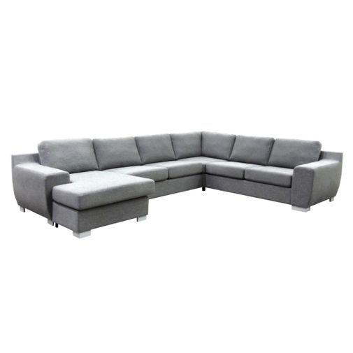 Med plats för hela tjocka släkten! Stor och mycket prisvärd soffa med vändbar divan - Kampi, u-soffa.