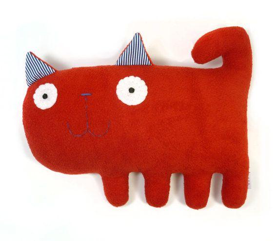 Kicia handmade plush animal by alelale on Etsy