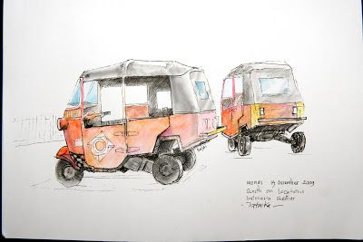 jatmika sketch & drawing: sketch on location - indonesia sketcher