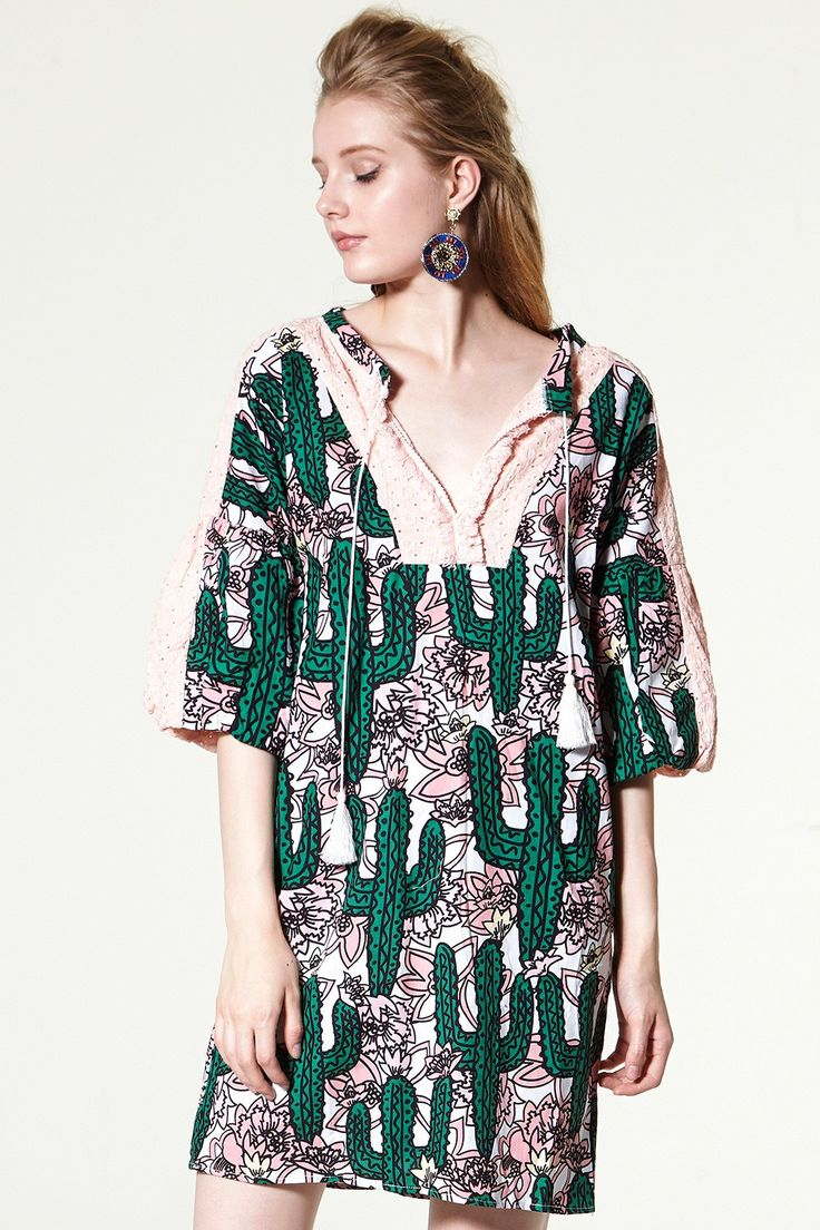 Tania Cactus Printed Dress Discover the latest fashion trends online at storets.com