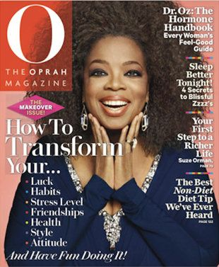 Oprah's big, beautiful, natural hairstyle on the September cover of O Magazine. (Photo: O Magazine)