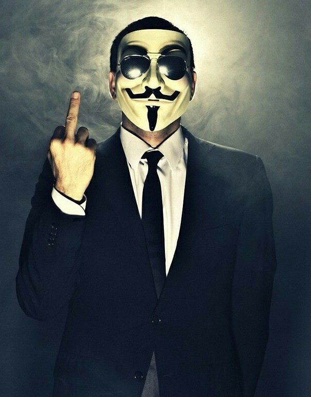 Anonymous middle finger