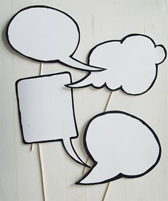 I want thought/speech bubbles that people can use to write messages to the bride and groom Design & Paper Photo Booth Props